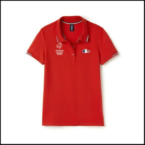lacoste olympique france polo rouge