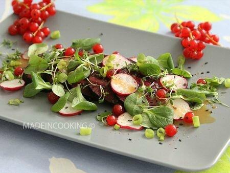 Salade de Betteraves-radis au miel