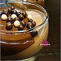 Panna cotta pralinée et mousse au chocolat noir