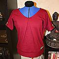 T-shirt loose couleur d'automne