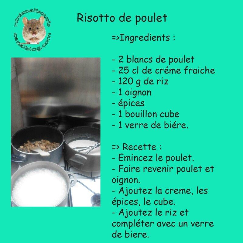 risoto de poulet