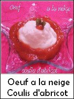 oeuf a la neige coulis d'abricot weight watchers