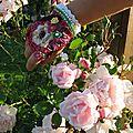 Mitaine aux fleurettes naîves
