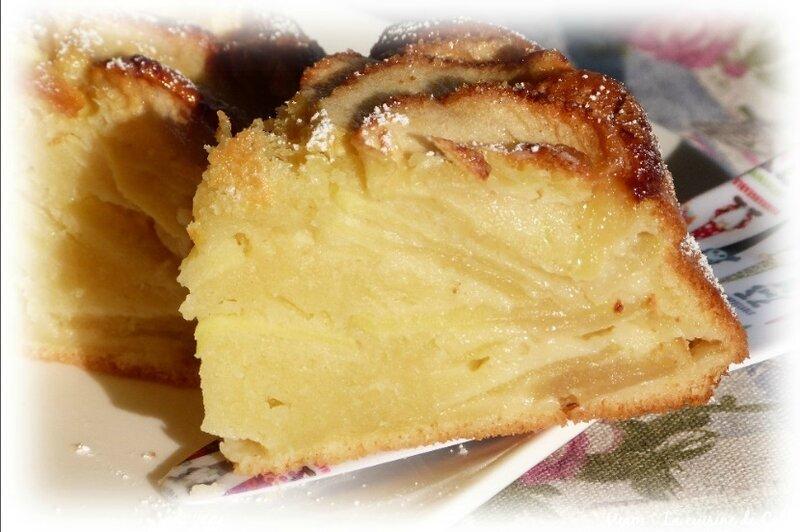 gâteau crème pommes1
