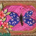 Papillon Bleu tache rose transparent blog