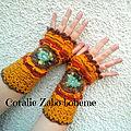 Doux dimanche, mitaines femme faite-main disponible en boutique/ boutique en ligne
