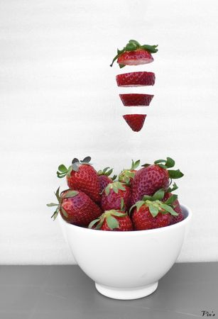 Flying strawberry