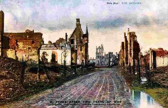 Ypres after 2 years of war