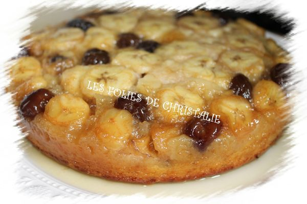 Gâteau tatin à la banane et cerises confites 7