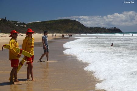 surf rescue on the beach