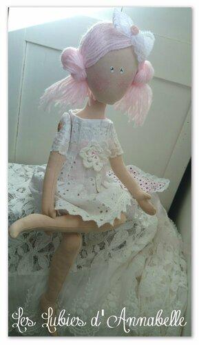 poupée style shabby assise été