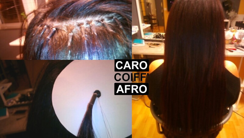 extensions à chaud caro coiff afro