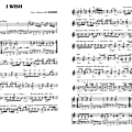 I wish (partition - sheet-music)