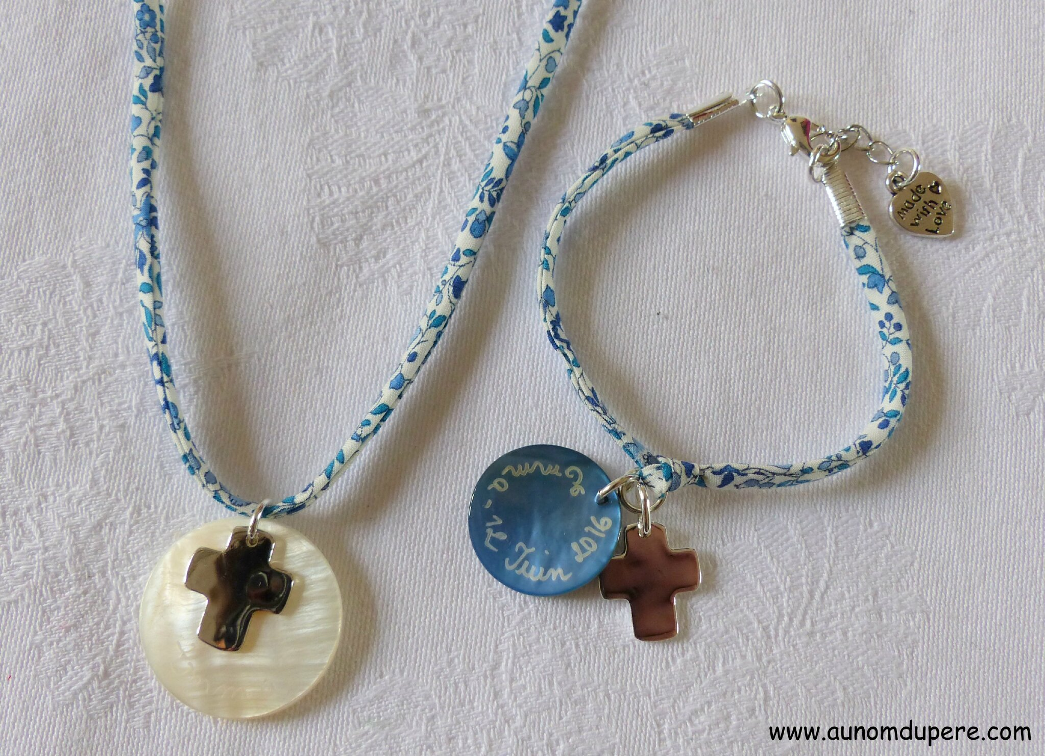 Collier de Communion et bracelet assorti