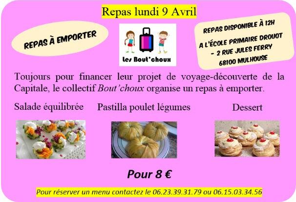 Quartier Drouot - Repas Les Bout'choux