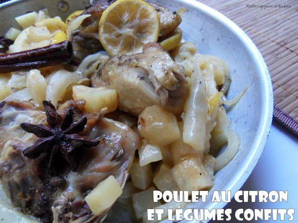 poulet au citron et légumes confits1