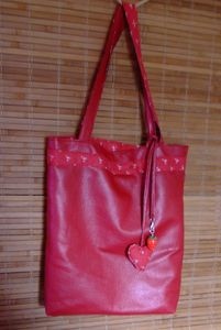 sac cuir rouge 3