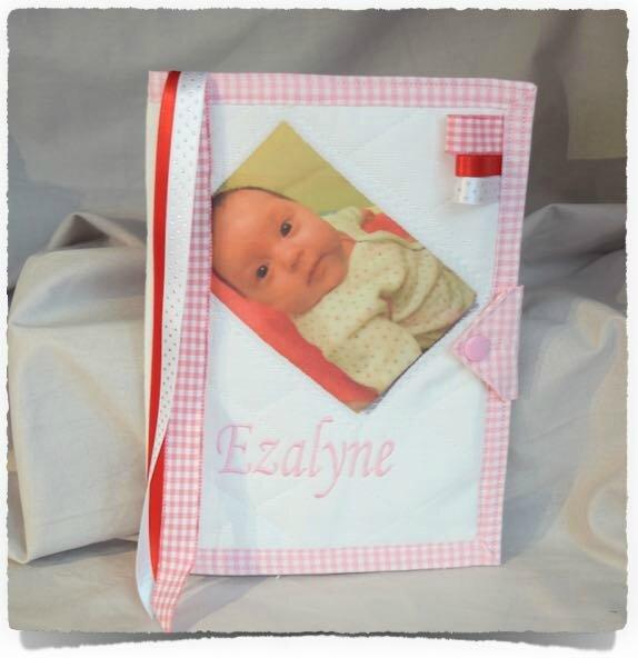 Protège carnet de santé PHOTO BEBE Personnalisé EZALYNE