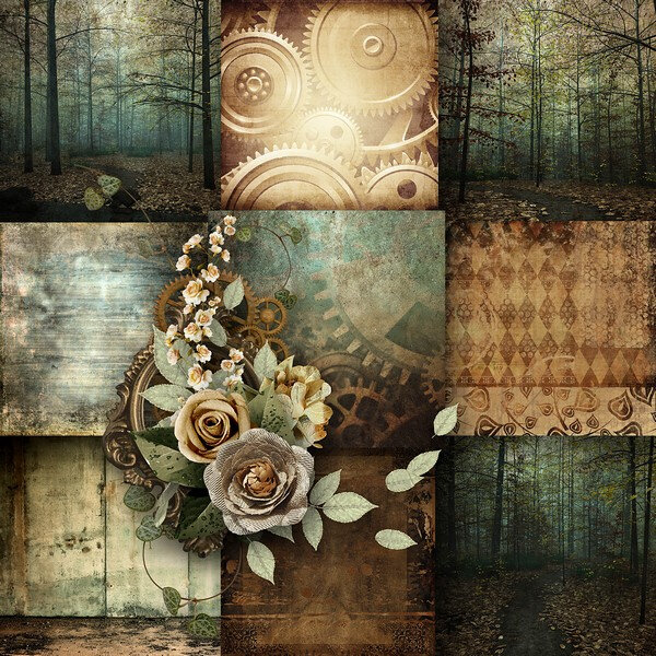 kittyscrap_SteampunkForest_papiers