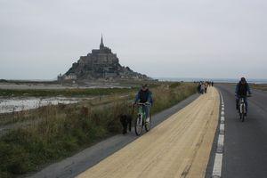 Mont-Saint-Michel vélo rétablissement du caractère maritime Manche