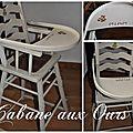 Petite chaise haute pour grand gourmet !