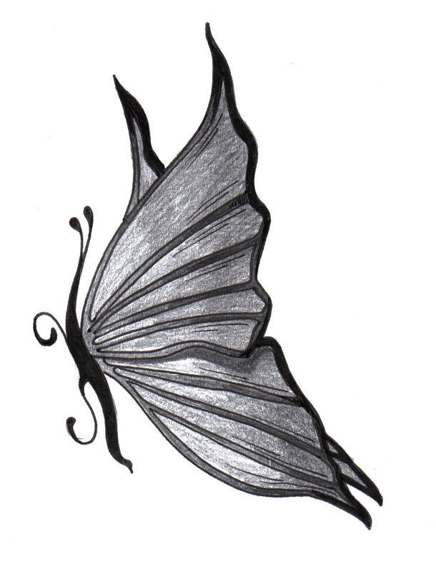 "Dessin Papillon Tatouage tatouage ""mt"" - l'association emily calligraphy"