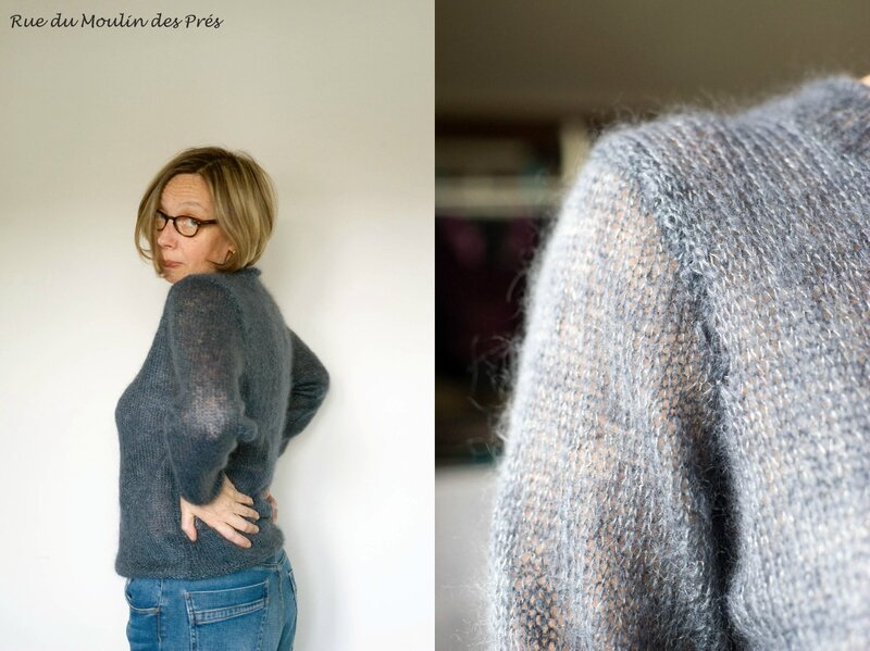 Pull Mohair gris 03