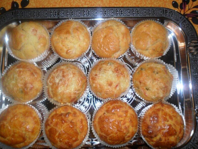 Muffins salés plateau 1