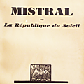 Thibaudet sur l'action linguistique de mistral