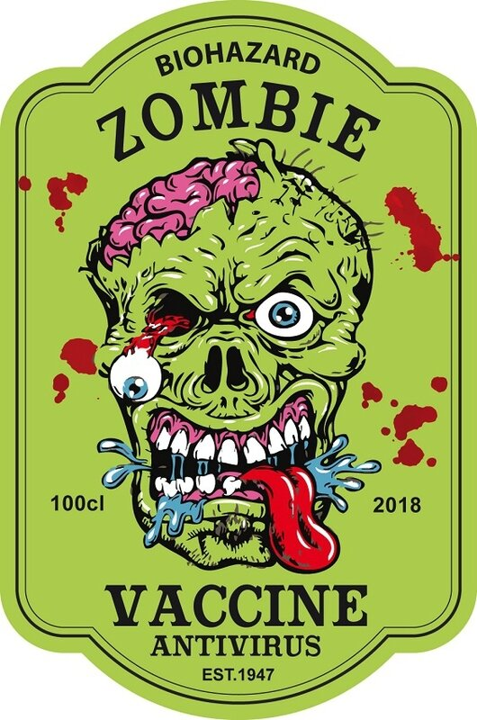 label zombie tonic halloween virus