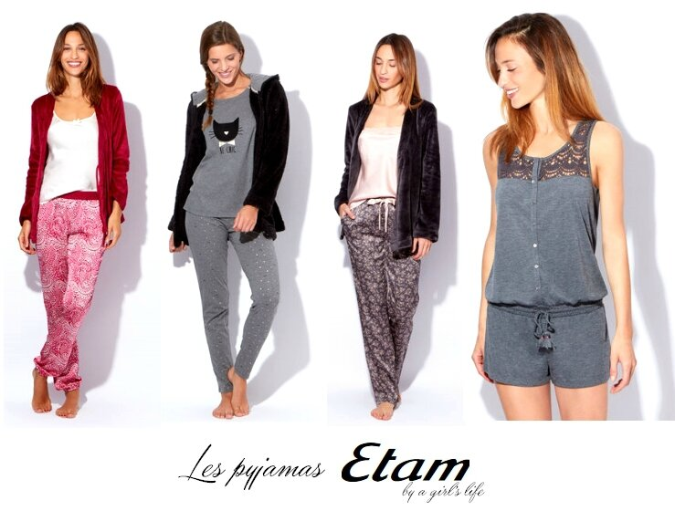On se blottit dans nos pyjamas Etam (Hiver 2015)