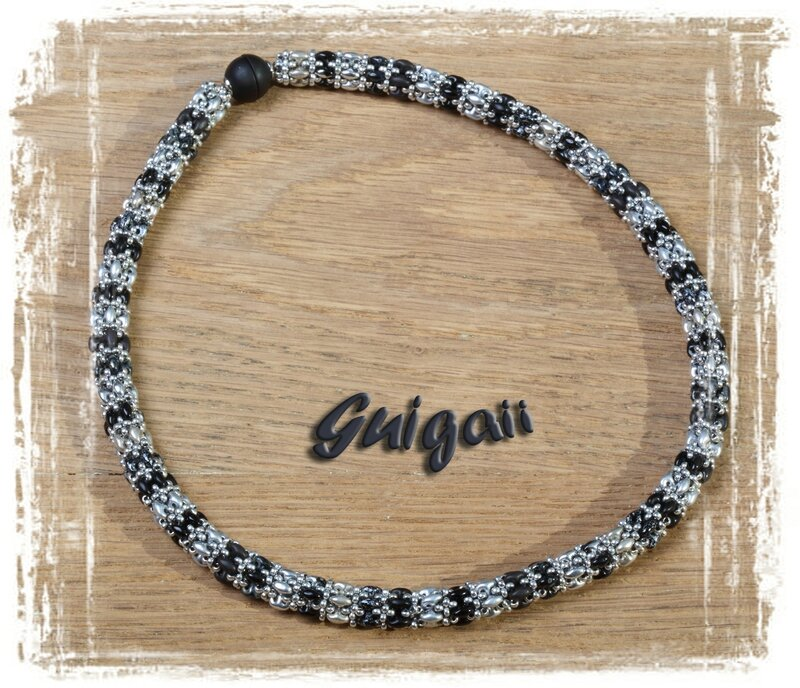 n°260 Collier Daydreamer rope noir_argent
