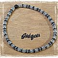 Collier Daydreamer rope noir_argent