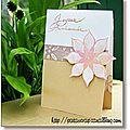 carte fleur glossy