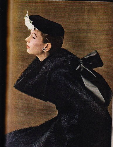 1952 - Dorian Leigh wearing Balenciaga, photo by Richard Avedon for Harper's Bazaar