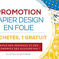 Papier design en folie chez stampin'up !