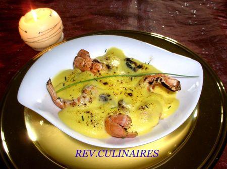 langoustines au sabayon de champagne 1