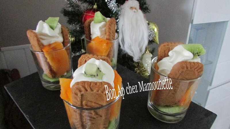 Verrines kaki kiwi spéculoos chantilly 007-