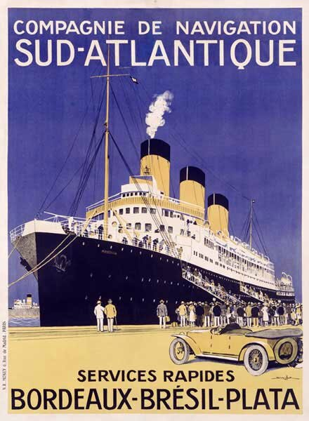402707_French-Sud-Atlantique-Ocean-Line-Poster