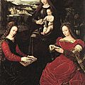 1530-32 Ambrosius BENSON : La Vierge, Ste Barbe et Ste Catherine (Louvre)