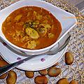 Chorba foul a la coriandre et cumin ( soupe de fèves sèches)