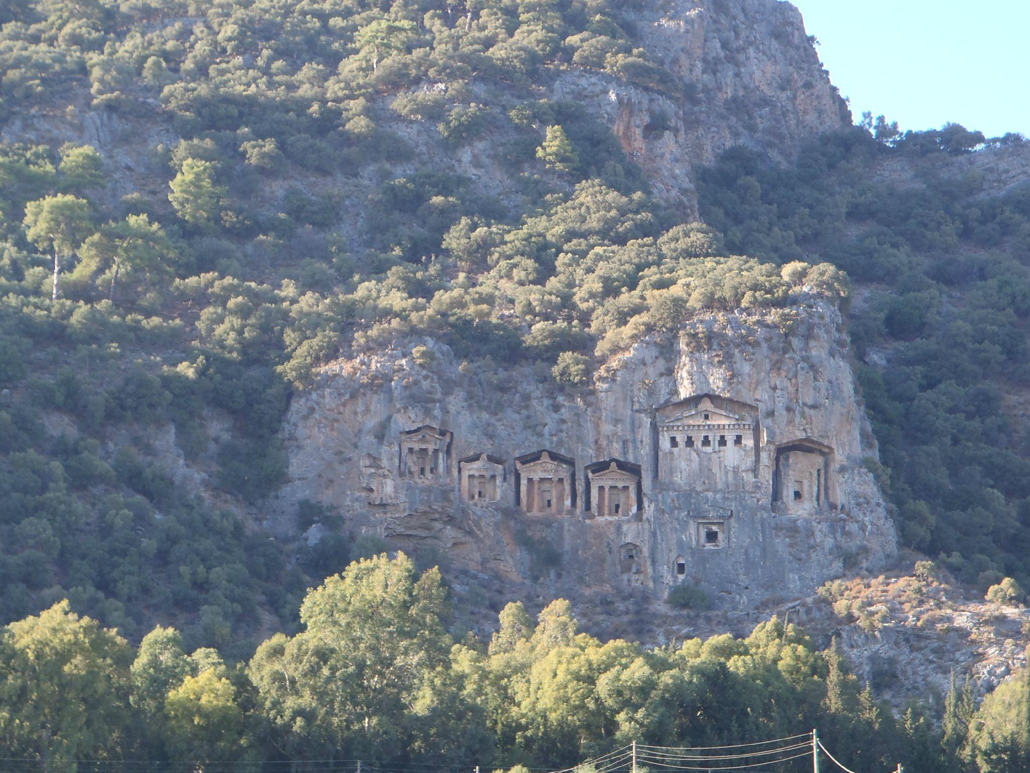 turquie : dalyan les tombeaux lyciens