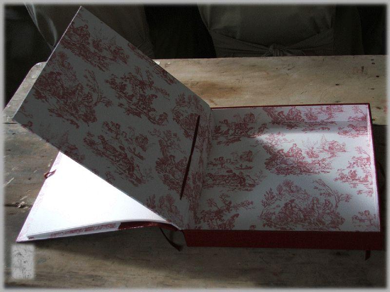 Album carton esprit gustavien rouge 4