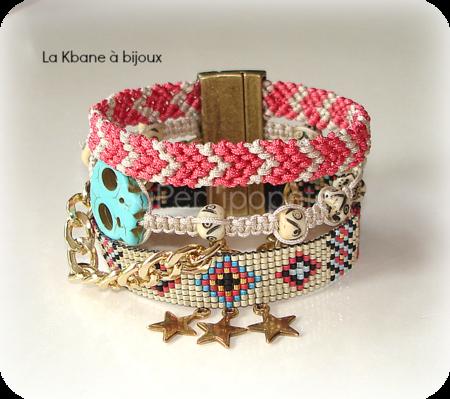 quadruple bracelet tissé2