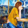La fille en terrasse