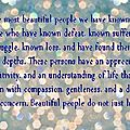 The most beautiful people...