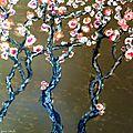 Fleurs de cerisier 80x80