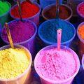 Farine de riz colorée pour kolam