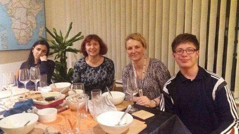 Repas en famille chez Lisa