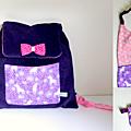 Kit rentrée maternelle sac à dos licorne serviette de cantine trousse